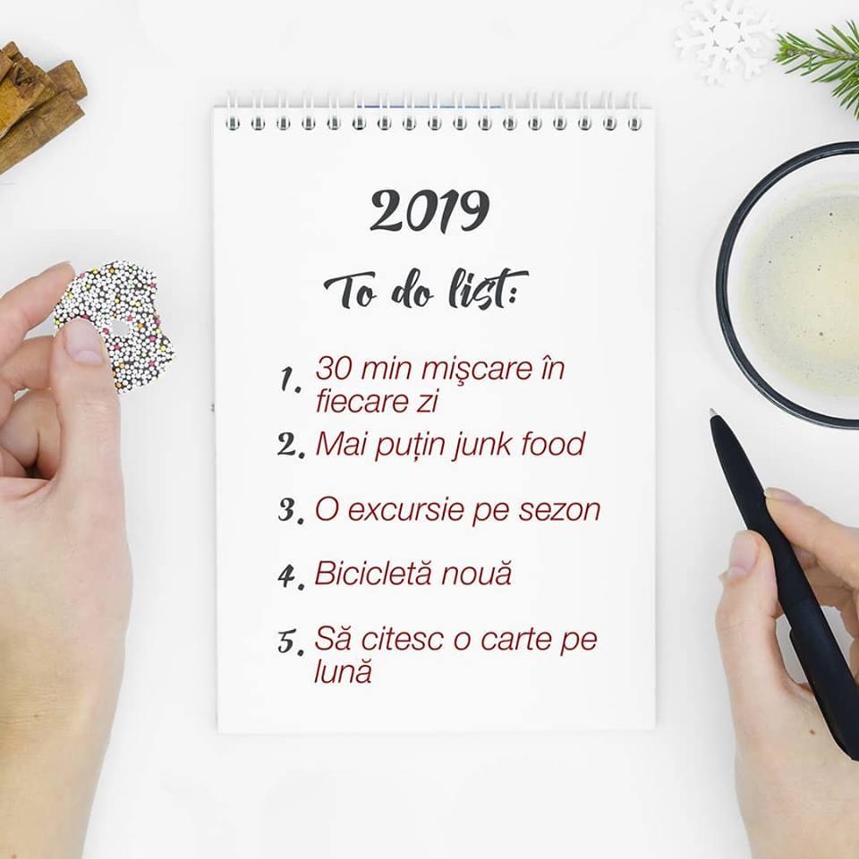 To Do List 2019 - Rezolutii de Anul Nou