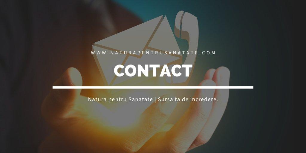 Formular Contact Natura pentru Sanatate