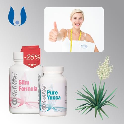 Promotie Slim Formula Yucca CaliVita silueta perfecta - Silueta perfecta si sanatoasa cu doar doua produse CaliVita