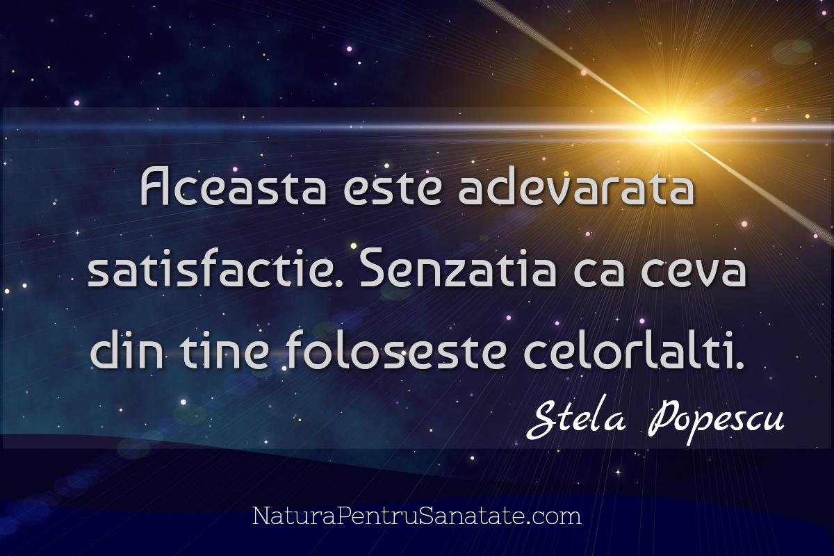 Stela Popescu satisfactia muncii