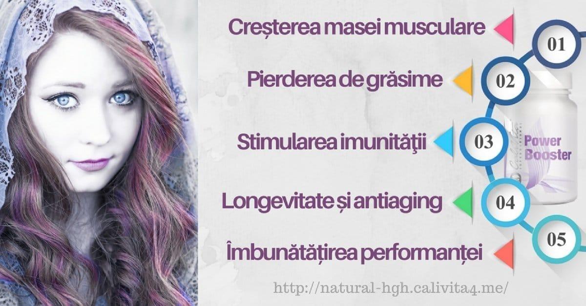 Top beneficii Hormonul de crestere uman HGH * Power Booster Calivita