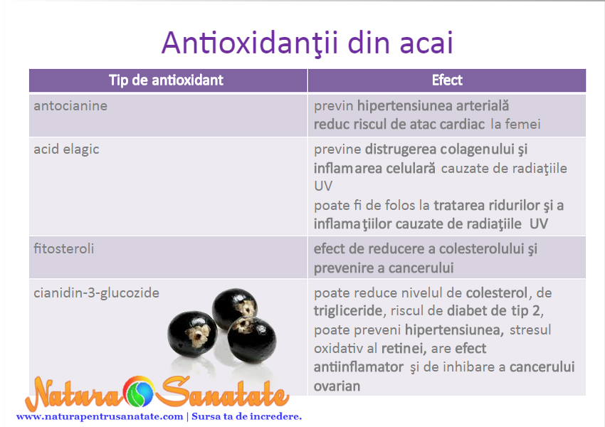 antioxidantii acai calivita - Sa facem cunostinta cu Acai Berry, Superalimentul Naturii #1