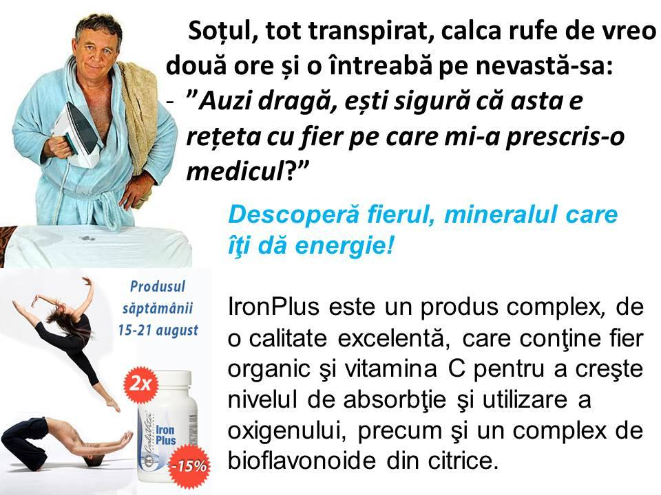 Reteta suplimente cu fier organic Iron Plus CaliVita