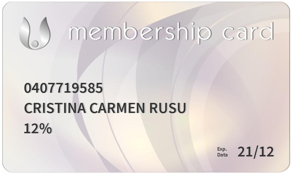 member card calivita - Club CaliVita International Romania
