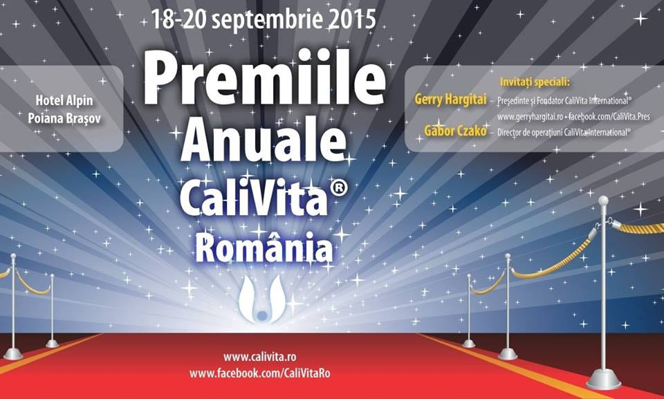 Evenimente speciale: Premiile Anuale CaliVita 2015