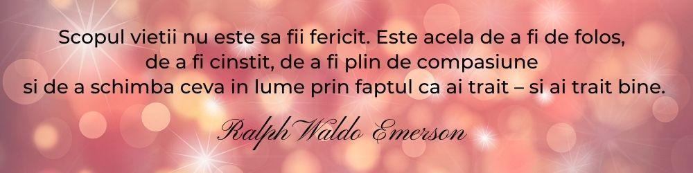 Rezolutii de An Nou: implinire, Ralph Waldo Emerson